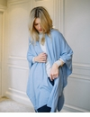Mer Sea Charleston Cotton Cashmere Wrap With Bag-Light Blue