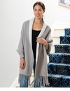 Mer Sea Napa Reversible Wrap - Sand-White