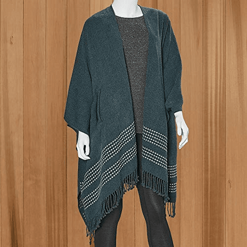 Mer Sea Pocket Travel Wrap With Bag - Cypress with Stitch Detail