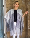 Mer Sea Thinny Traveler Wrap With Bag-Shades Of Grey Stripes