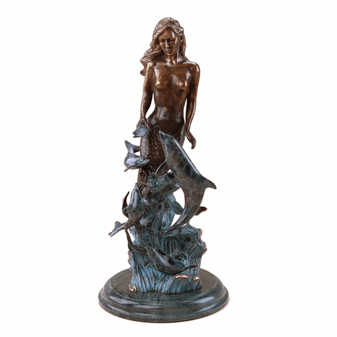 Mermaid Dolphin Statue by SPI Home