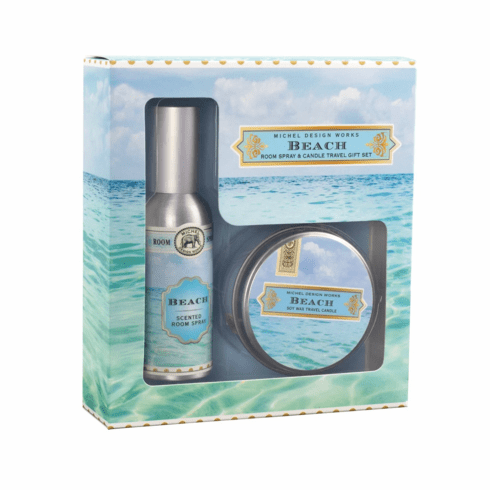 Michel Design Works Beach Room Spray and Candle Travel Gift Set