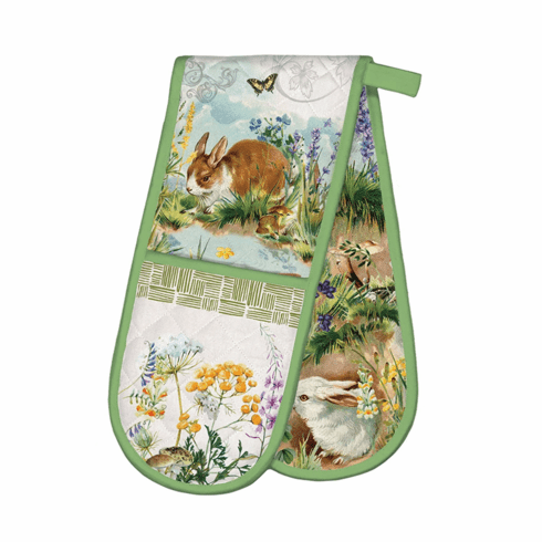 Michel Design Works Bunny Hollow Double Oven Glove