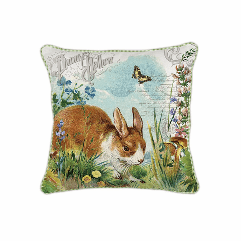 Michel Design Works Bunny Hollow Square Pillow