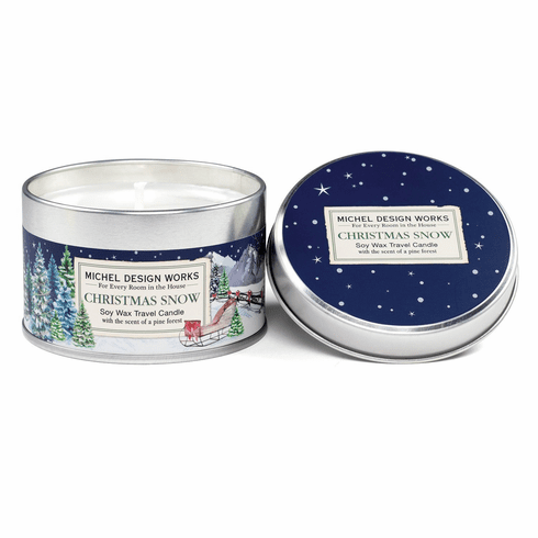 Michel Design Works Christmas Snow Travel Candle
