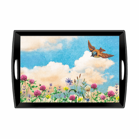 Michel Design Works Cloud Nine Large Decoupage Wooden Tray