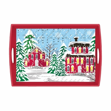 Michel Design Works Deck the Halls Large Decoupage Wooden Tray