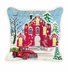 Michel Design Works Deck the Halls Square Pillow