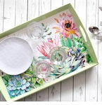 Michel Design Works Decoupage Wooden Trays