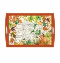 Michel Design Works Fall Harvest Large Decoupage Wooden Tray