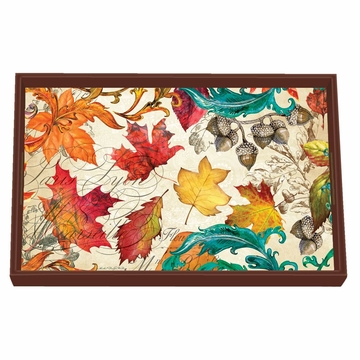 Michel Design Works Fall Symphony Vanity Decoupage Wooden Tray
