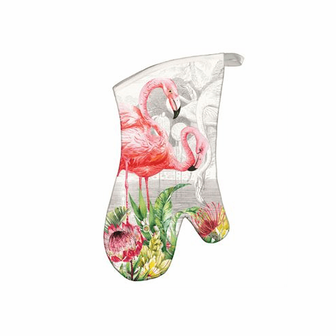 Michel Design Works Flamingo Oven Mitt