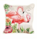 Michel Design Works Flamingo Square Pillow