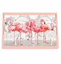Michel Design Works Flamingo Vanity Decoupage Wooden Tray