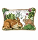 Michel Design Works Garden Bunny Rectangular Pillow