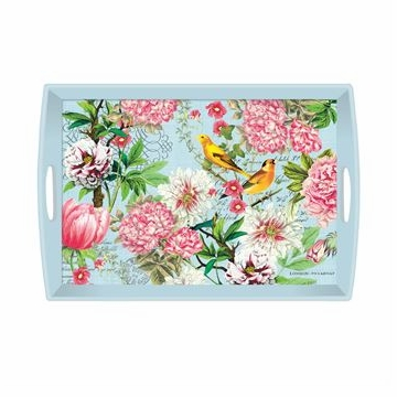 Michel Design Works Garden Melody Large Decoupage Wooden Tray