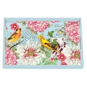 Michel Design Works Garden Melody Vanity Decoupage Wooden Tray