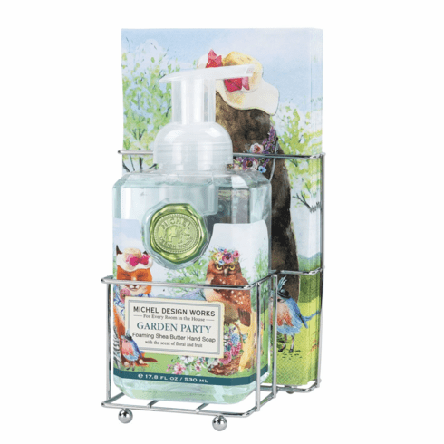 Michel Design Works Garden Party Foaming Soap Napkin Set
