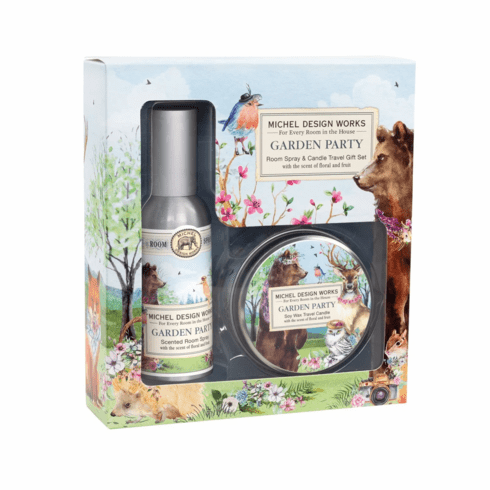 Michel Design Works Garden Party Room Spray and Travel Candle Set
