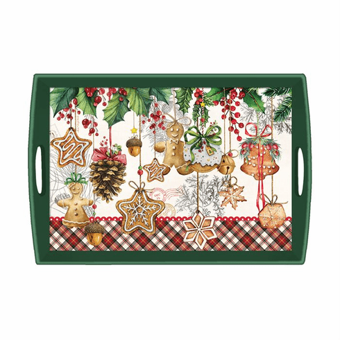 Michel Design Works Holiday Treats Large Decoupage Wooden Tray