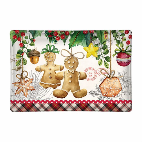 Michel Design Works Holiday Treats Rectangular Glass Soap Dish
