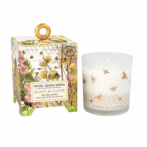 Michel Design Works Honey & Clover 6.5 oz. Soy Wax Candle