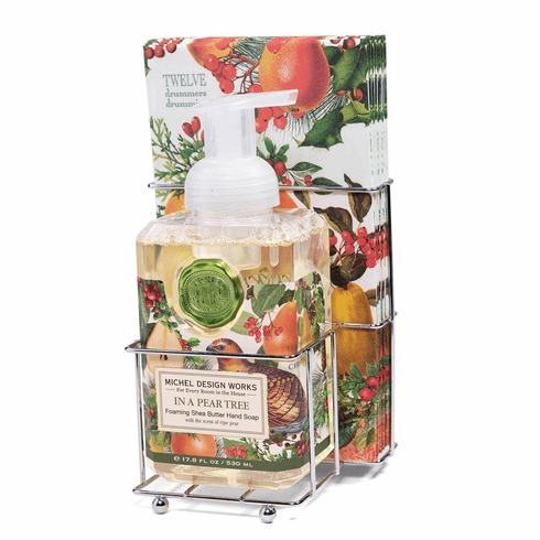 Michel Design Works In a Pear Tree Foaming Soap Napkin Set