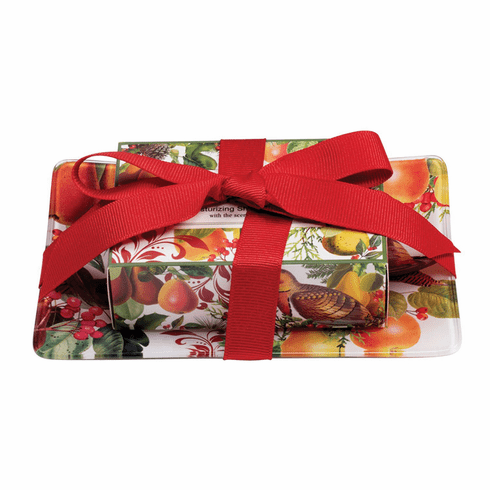 Michel Design Works In a Pear Tree Gift Soap Set
