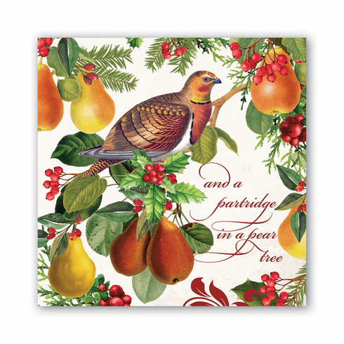 Michel Design Works In a Pear Tree Luncheon Napkin