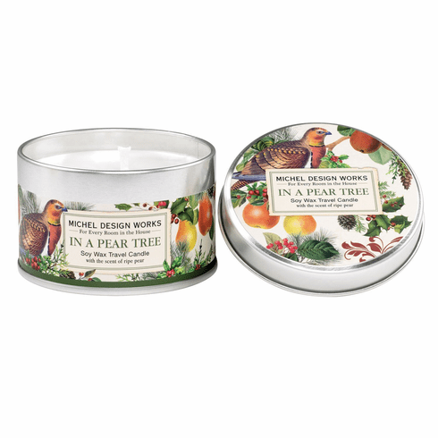 Michel Design Works In a Pear Tree Travel Candle