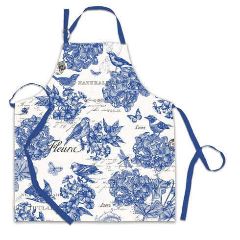 Michel Design Works Indigo Cotton Apron