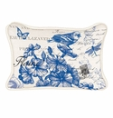 Michel Design Works Indigo Cotton Rectangular Pillow