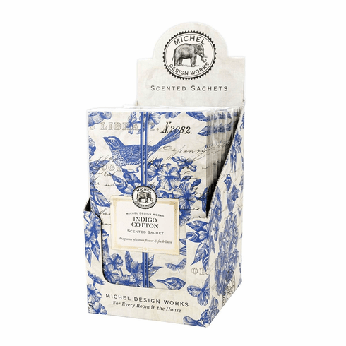 Michel Design Works Indigo Cotton Scented Sachet Unit of 12