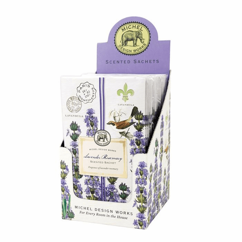 Michel Design Works Lavender Rosemary Scented Sachet Unit of 12