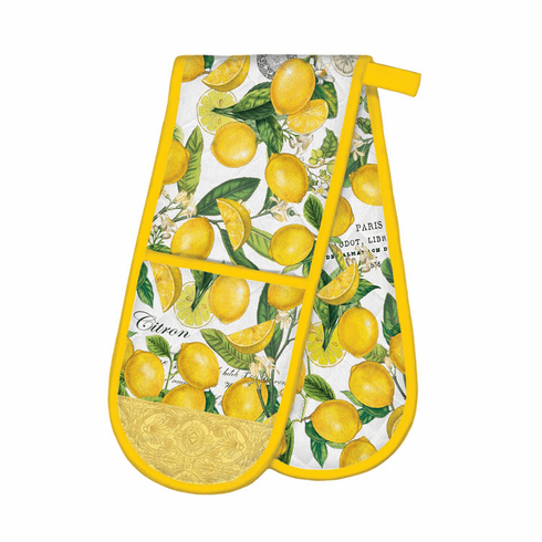 Michel Design Works Lemon Basil Double Oven Glove