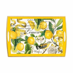 Michel Design Works Lemon Basil Large Decoupage Wooden Tray