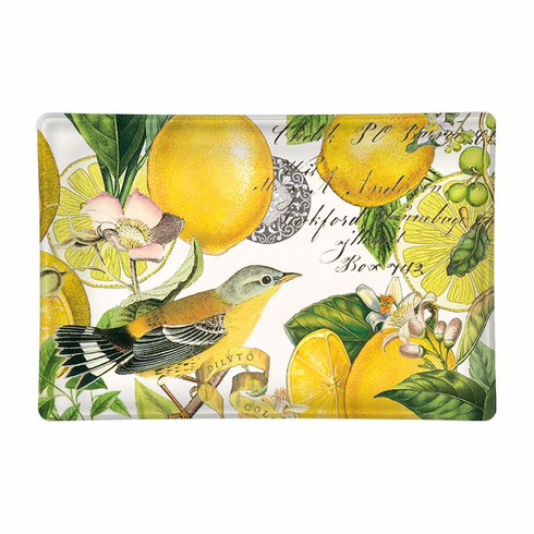 Michel Design Works Lemon Basil Rectangular Glass Soap Dish