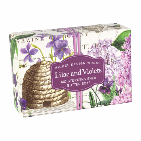 Michel Design Works Lilac and Violets 4.5 oz. Boxed Soap