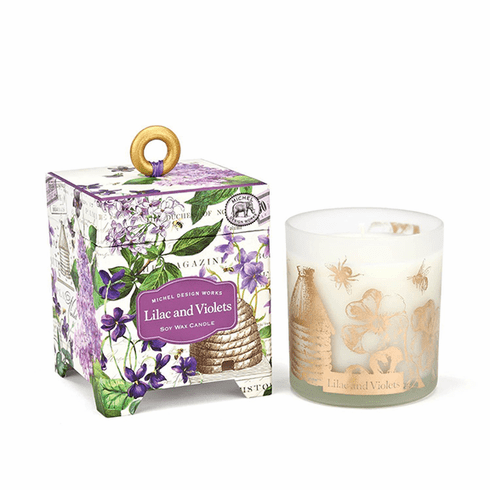 Michel Design Works Lilac and Violets 6.5 oz. Soy Wax Candle