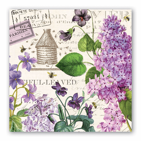 Michel Design Works Lilac and Violets Luncheon Napkin