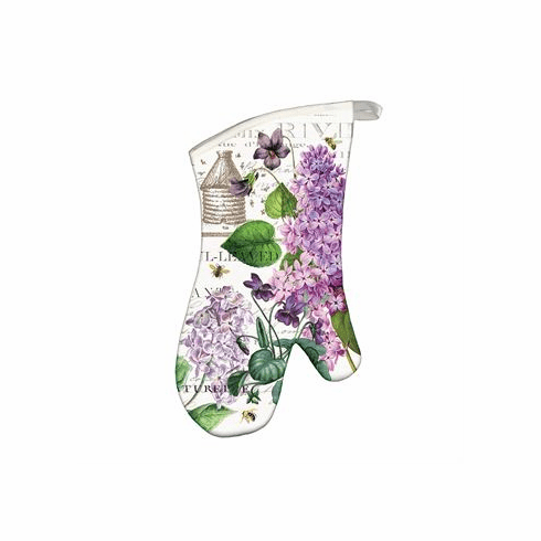 Michel Design Works Lilac and Violets Oven Mitt