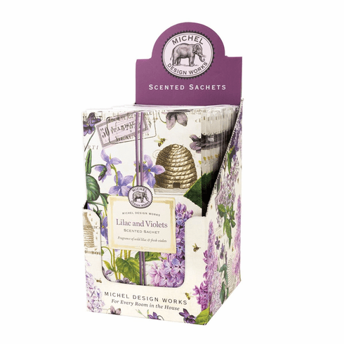Michel Design Works Lilac and Violets Scented Sachet Unit of 12
