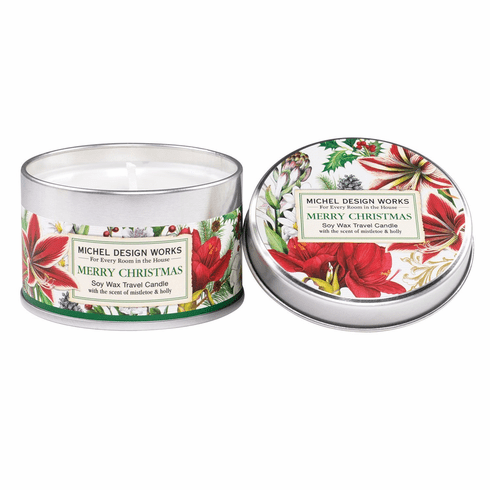 Michel Design Works Merry Christmas Travel Candle