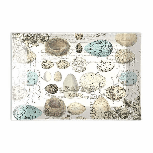 Michel Design Works Nest & Eggs Rectangle Glass Soap Dish
