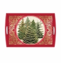 Michel Design Works O Tannenbaum Large Decoupage Wooden Tray
