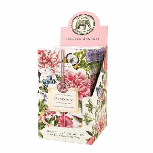 Michel Design Works Peony Scented Sachet Unit of 12
