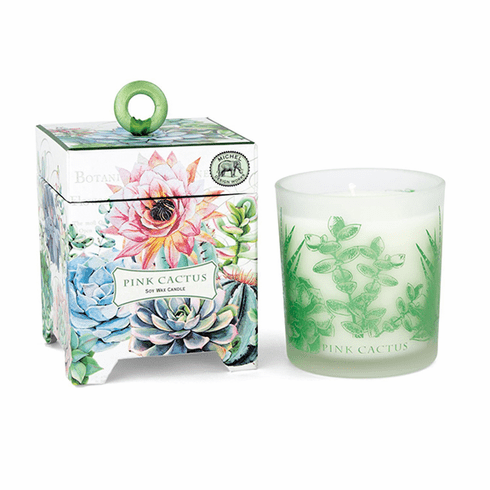 Michel Design Works Pink Cactus 6.5 oz. Soy Wax Candle
