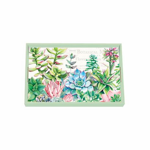 Michel Design Works Pink Cactus Vanity Decoupage Wooden Tray