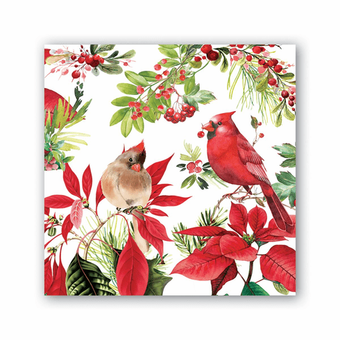 Michel Design Works Poinsettia Cocktail Napkin