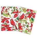 Michel Design Works Poinsettia Kitchen Towel Set of 2 Assorted